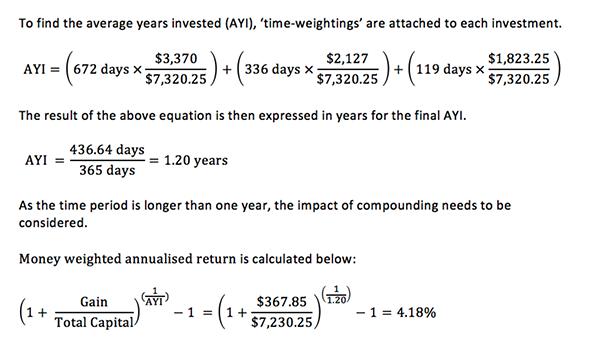 Annualised return formular