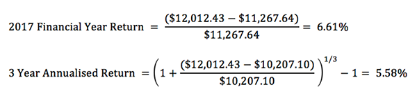 Time weighted returns formula