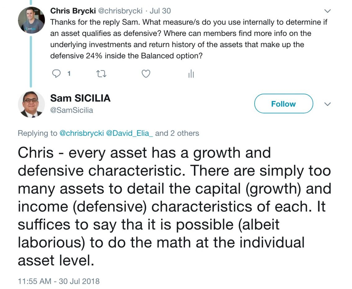 Hostplus: how do they determine a defensive asset?
