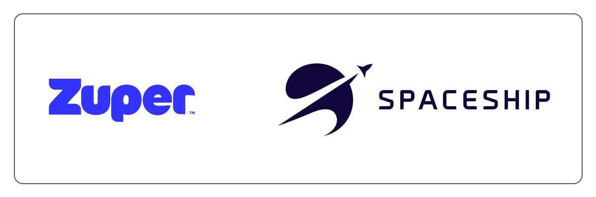 zuper logo, spaceship logo